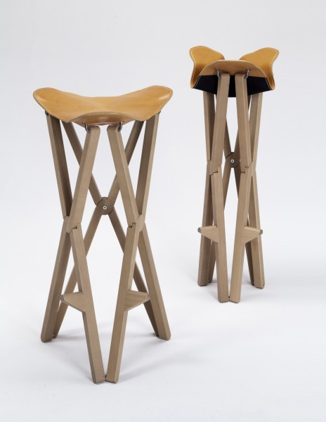 Treee Camp foldable stool designed by Luciano Bertoncini