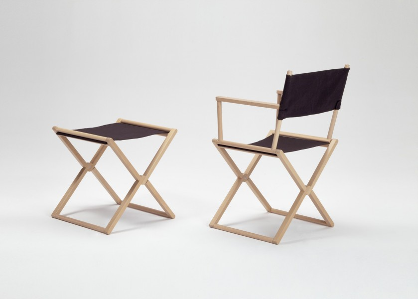 Treee Set foldable chairs and stool designed by Luciano Bertoncini