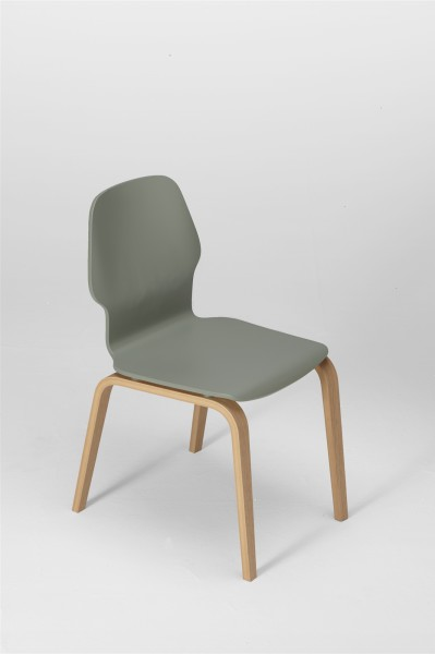 fred chair, oak and cement grey. design studiolucianobertoncini