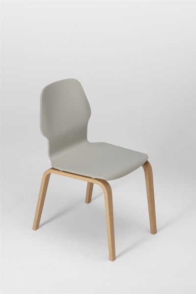 fred chair, oak and silk grey. design studiolucianobertoncini