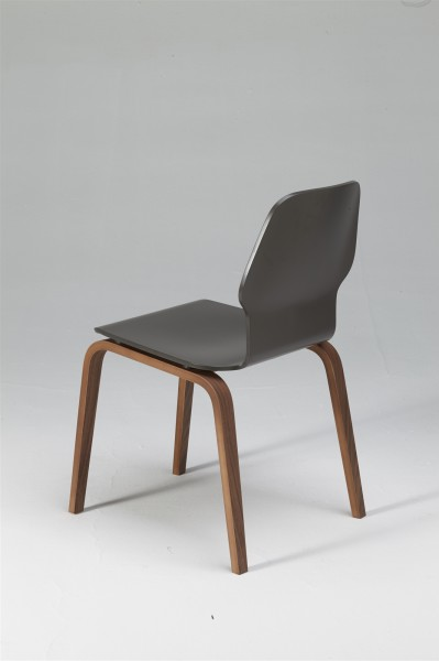 fred chair, walnut and dark grey. design studiolucianobertoncini