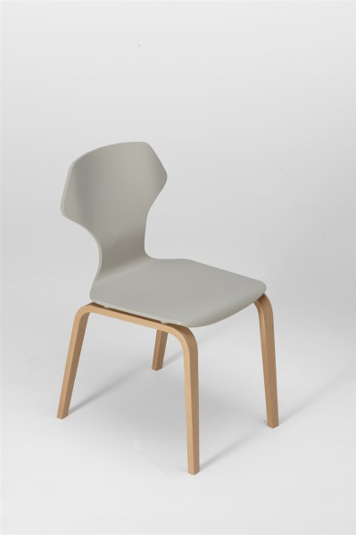 ginger chair. oak and silk grey. design studiolucianobertoncini