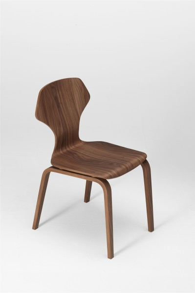 ginger chair. walnut. design studiolucianobertoncini