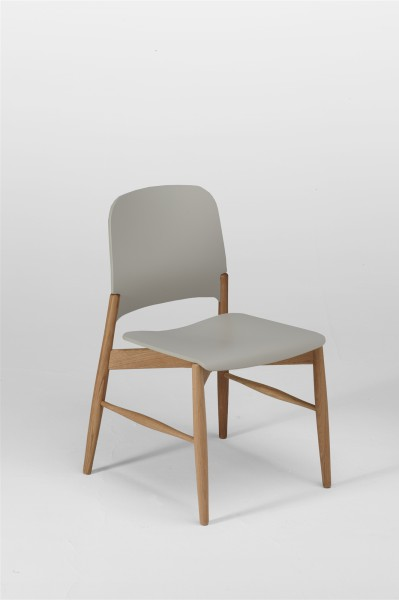 lipp chair. oak and silk grey. design studiolucianobertoncini