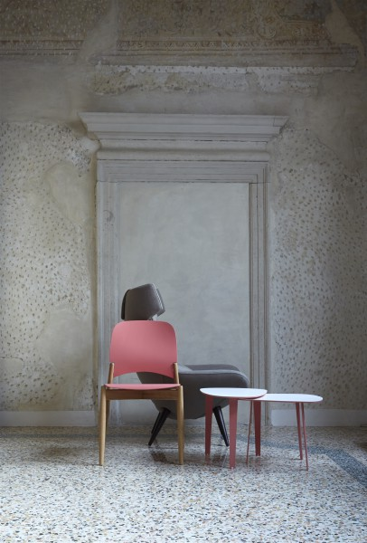 lipp chair. oak and pink. design studiolucianobertoncini