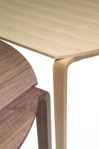 magot table. oak and walnut. extensible table. design studiolucianobertoncini