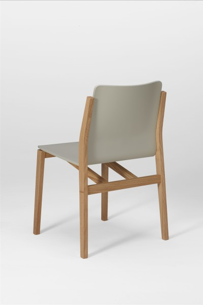sticky chair. oak and silk grey. design studiolucianobertoncini