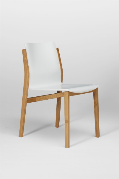 sticky chair. oak and white. design studiolucianobertoncini