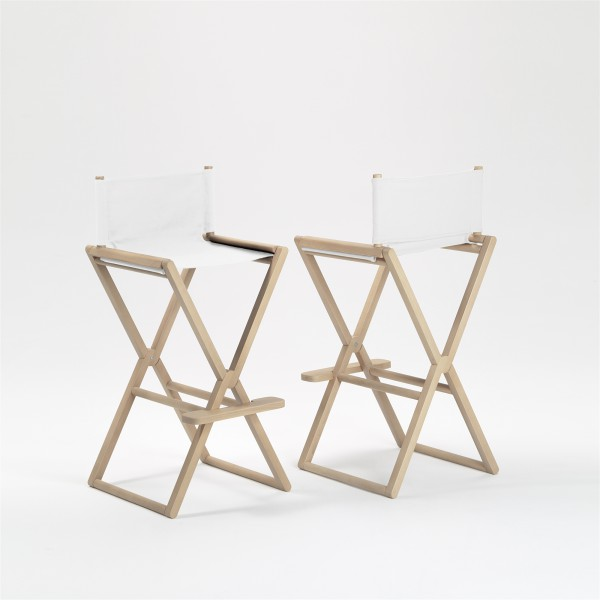 treee set high stool beech and white. design studiolucianobertoncini